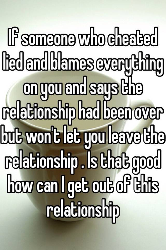 How to get over someone who cheated and lied