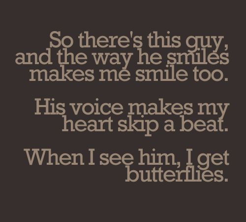 How to give a guy butterflies