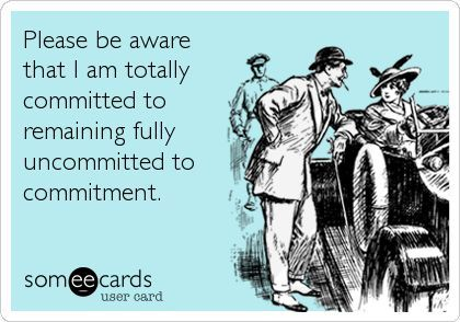 How to handle a commitment phobe