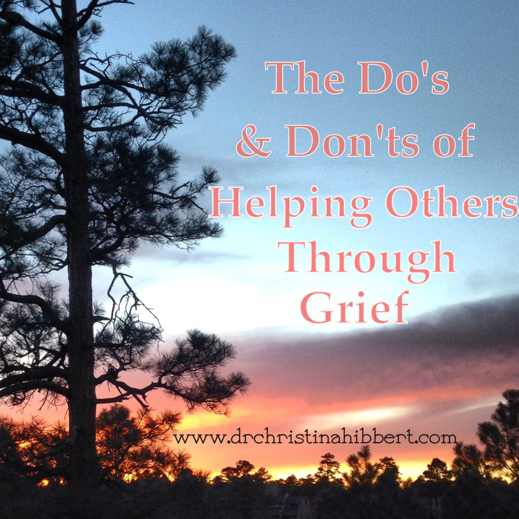 How to help someone through bereavement