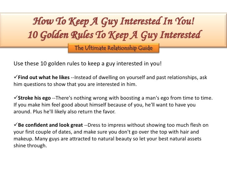 How to keep a guy interested