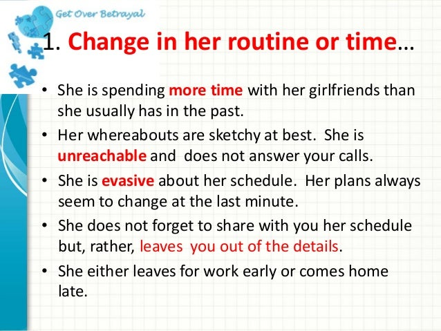 How to know if your gf is cheating