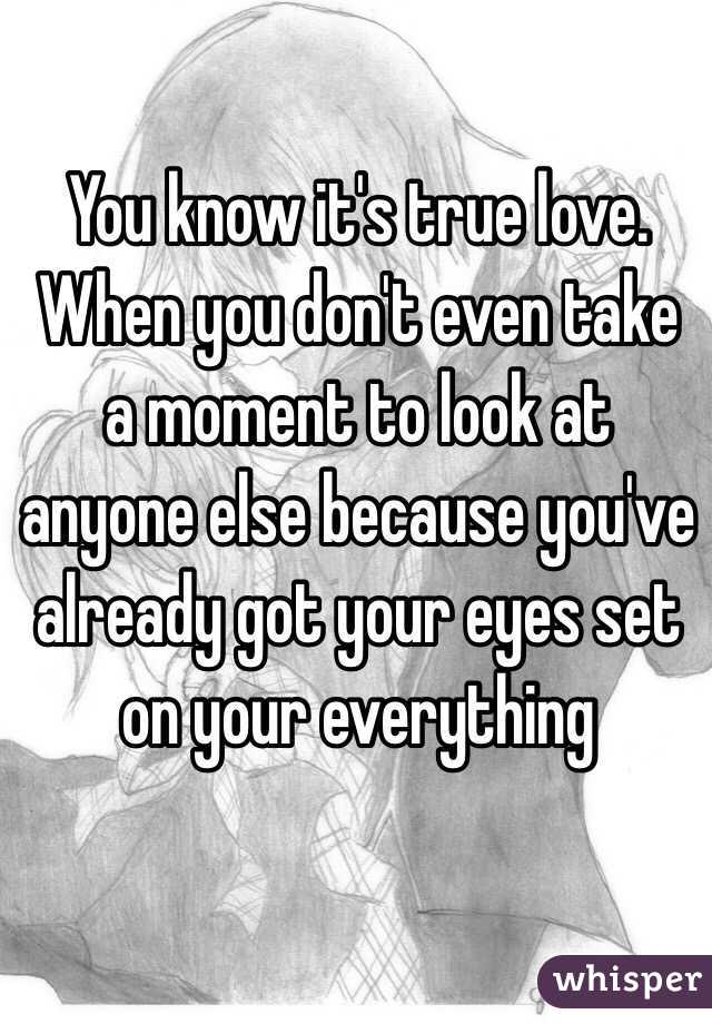 How to know true love