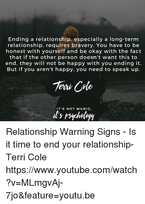 How to know when to end a long term relationship