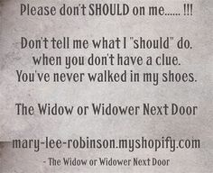 How to love a widower