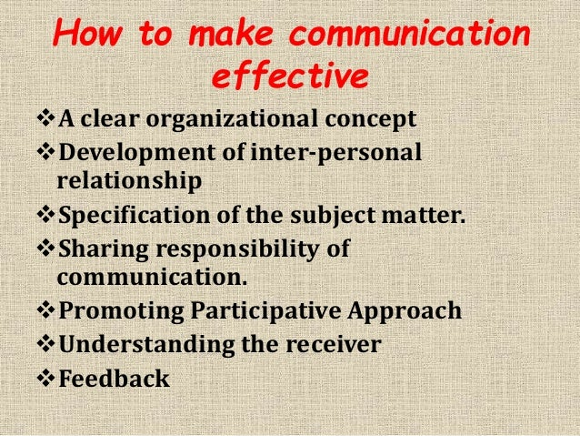 How to make communication
