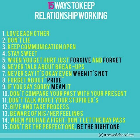 How to make it work in a relationship