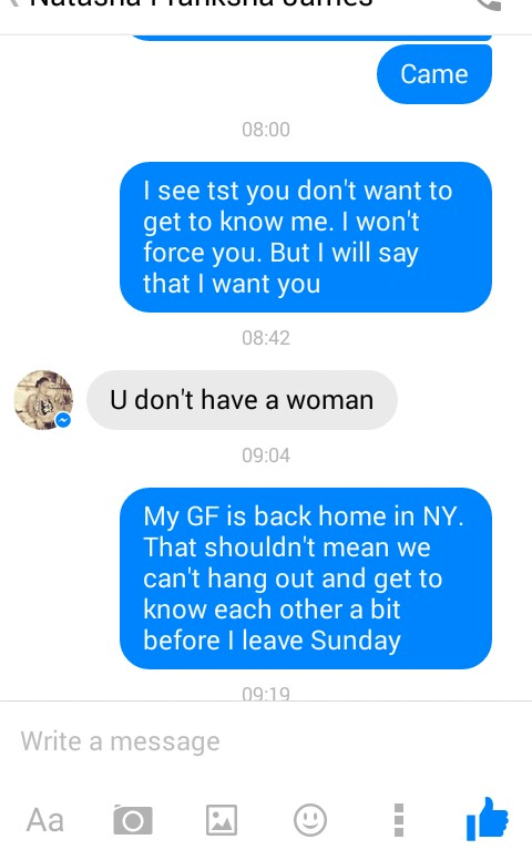 How to message a woman