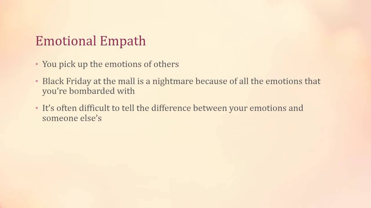 How to stop being an empath