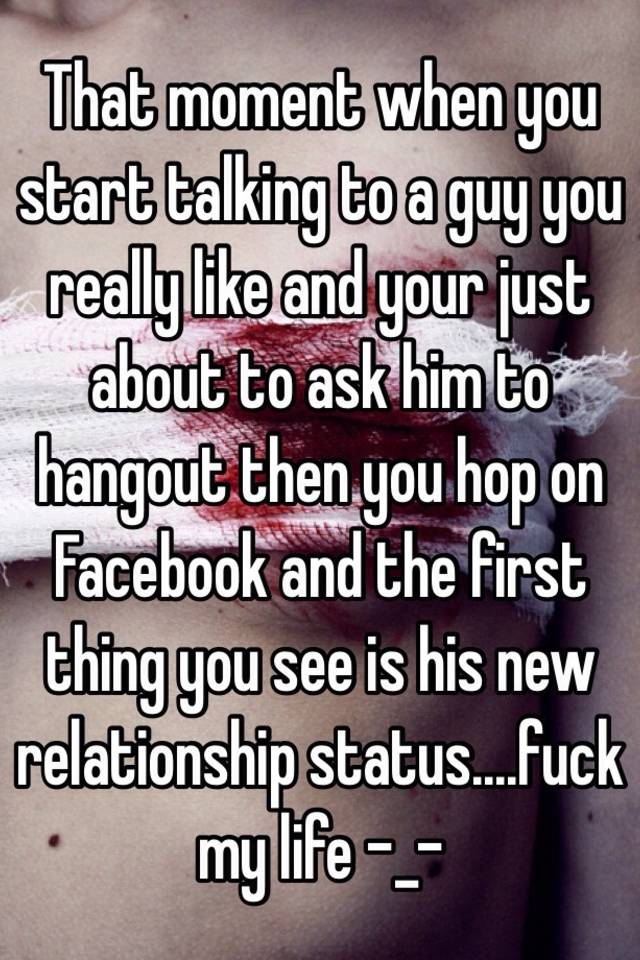 How to talk to a guy about relationship status