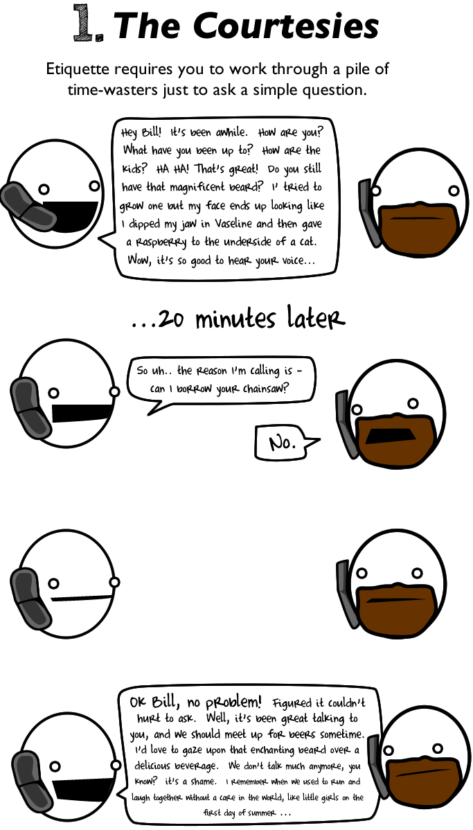 How to talk to someone on the phone