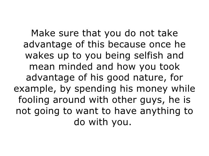 How to tell if a man is selfish