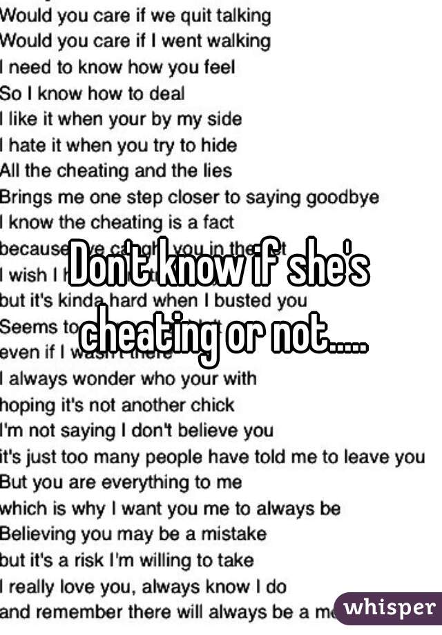 How to tell if she is cheating