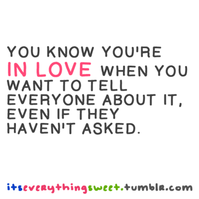 How to tell you re in love