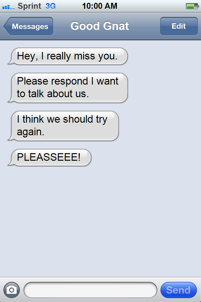 How to text an ex boyfriend after no contact
