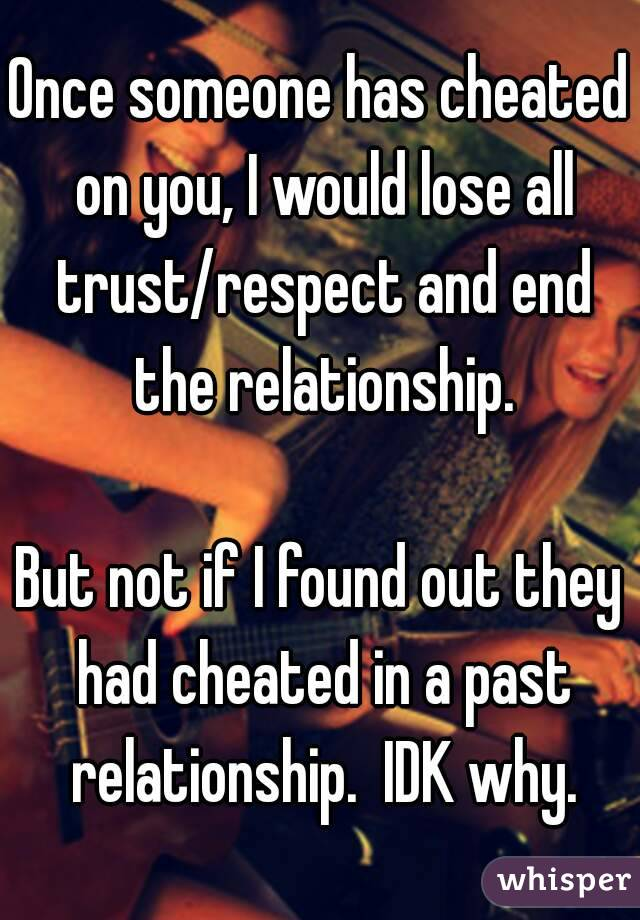How to trust someone who cheated