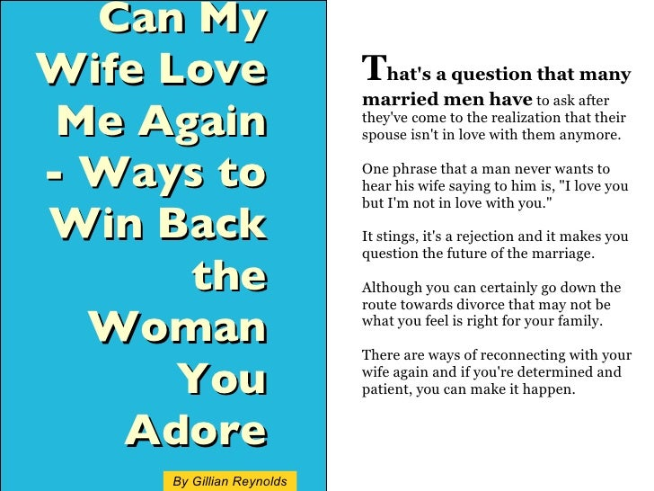 How to win over a married man
