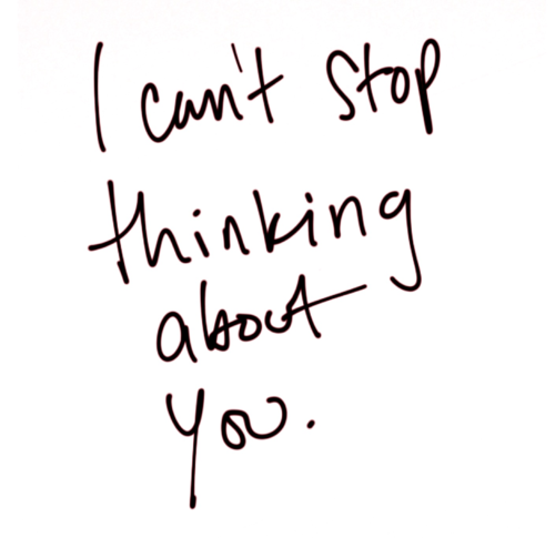 I thinking about you