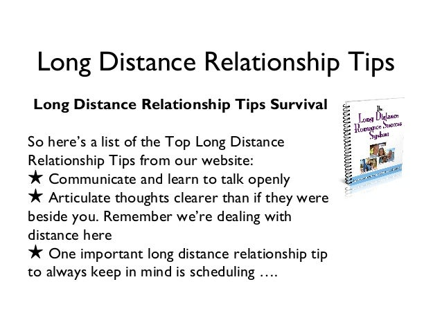 Long distance relationship advice