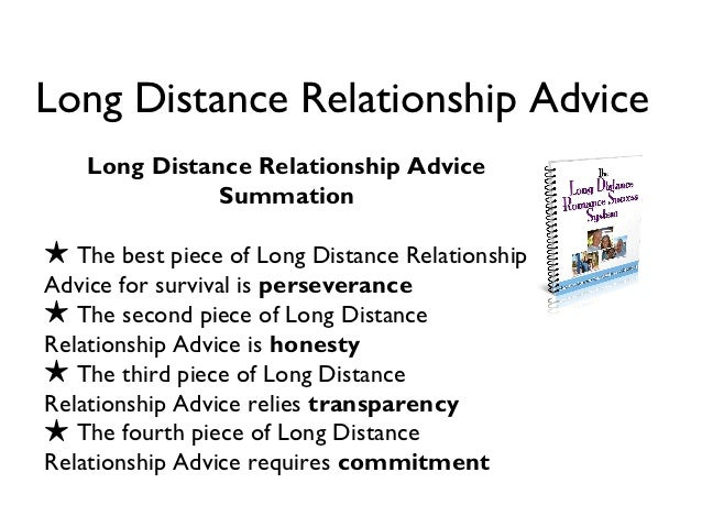 Long distance relationships advice
