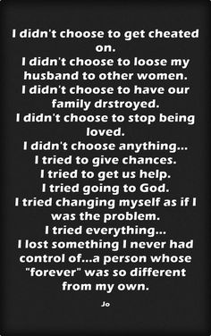 My husband chose the other woman