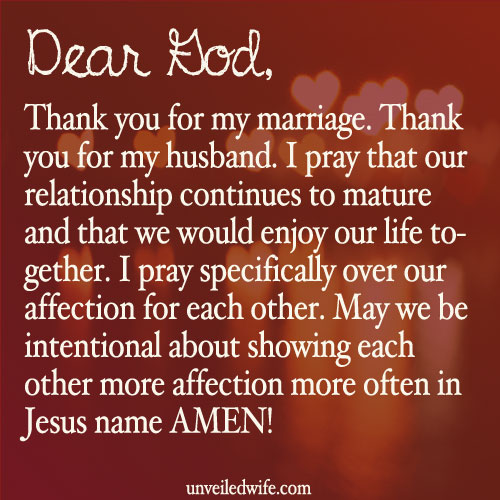 No affection in marriage