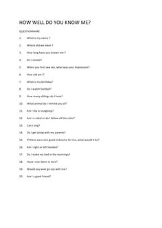 Questions to ask someone you just met