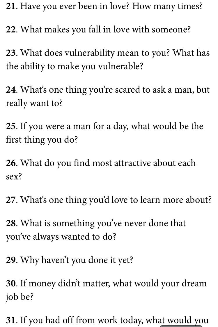 Questions to ask someone you want to get to know