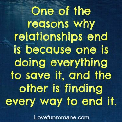 Reasons to end a relationship