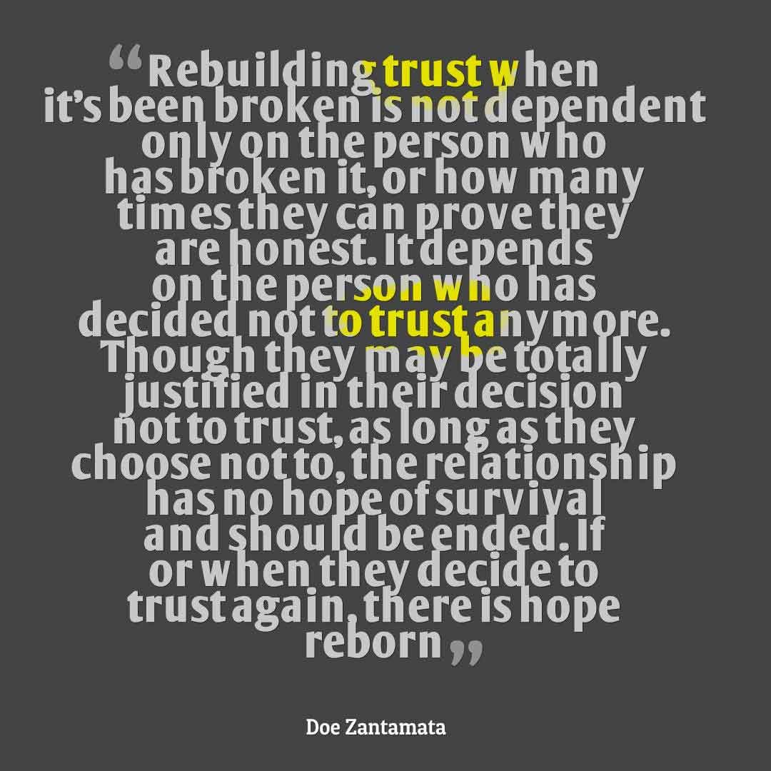 Rebuilding trust in marriage after lying