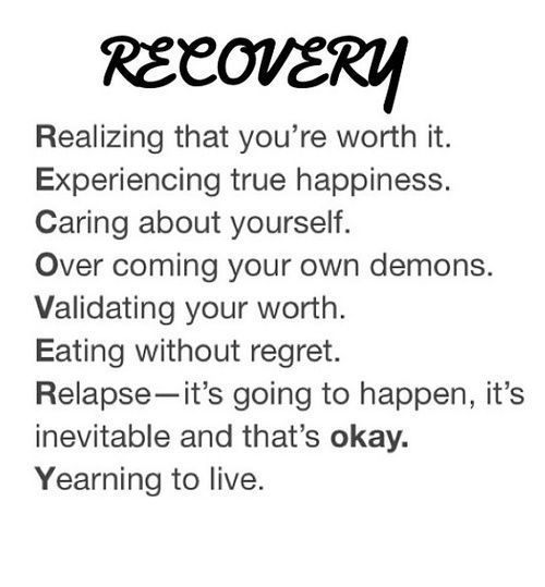 Recovering from a break up