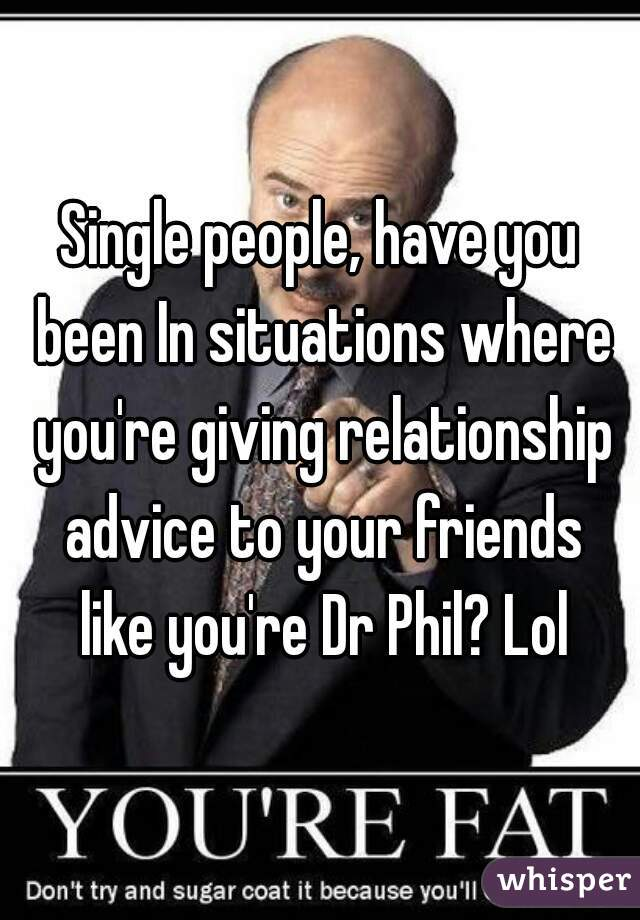Relationship advice for friends