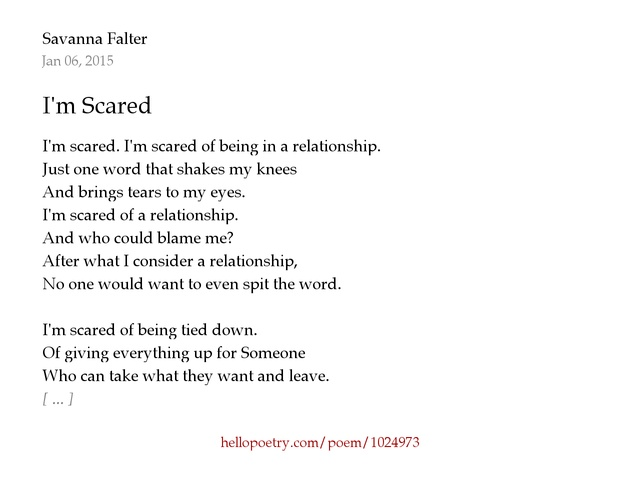 Scared of being in a relationship