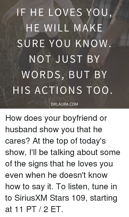 Signs a guy cares about you