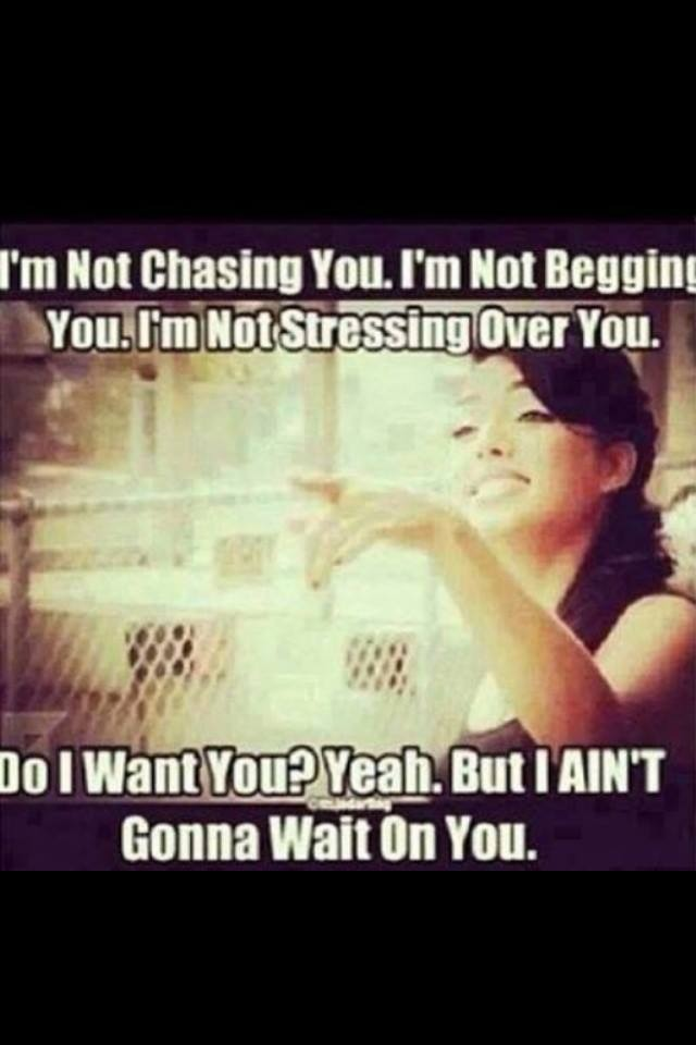 Signs a guy wants you to chase him