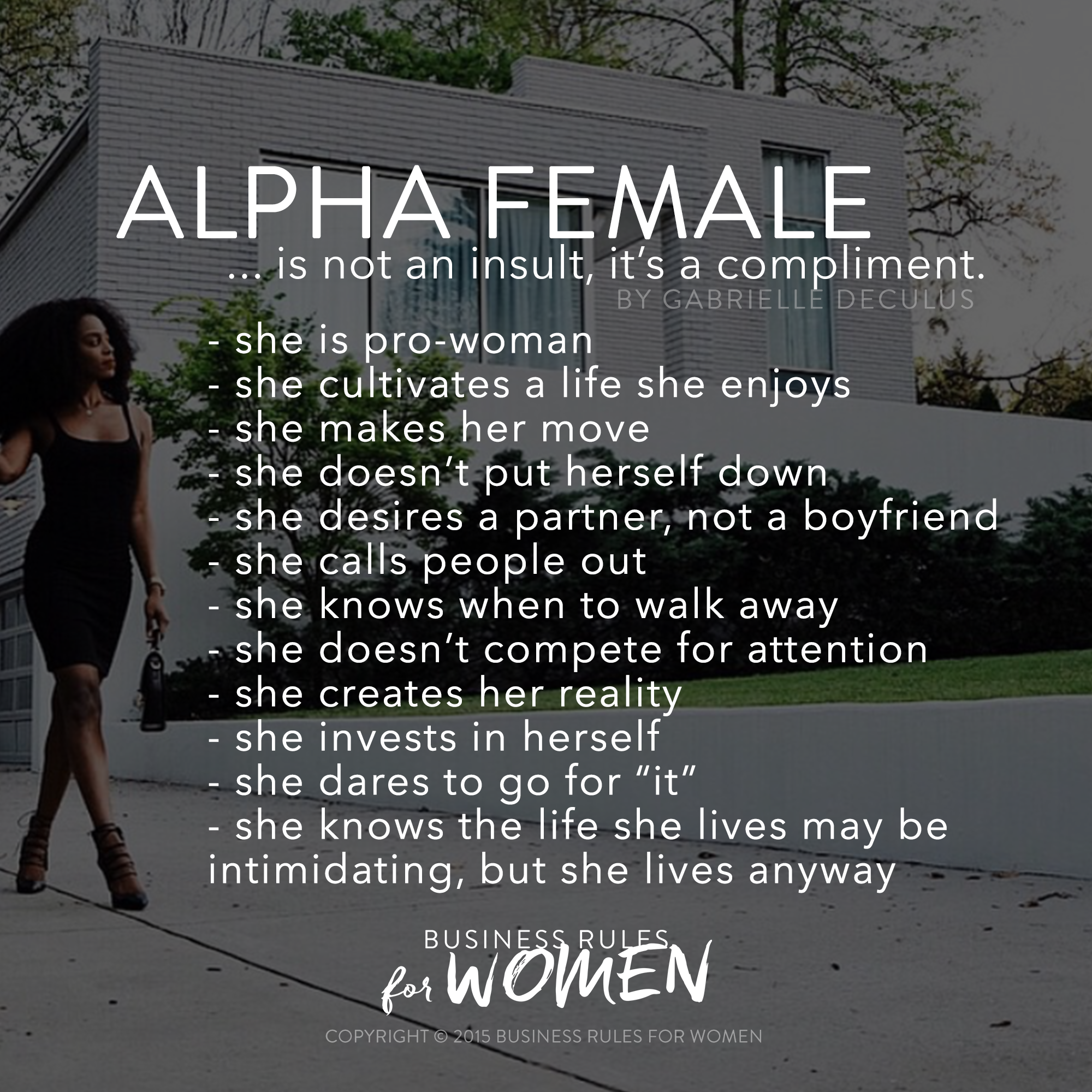 Signs a woman is intimidated by another woman