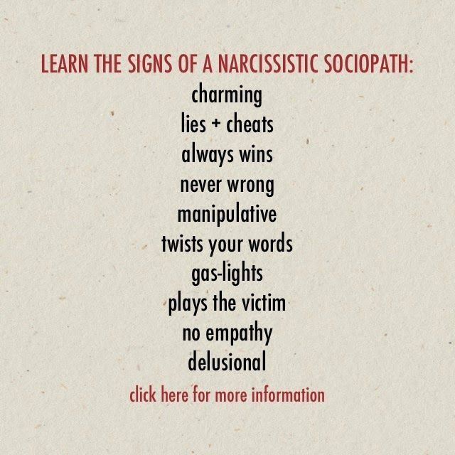 Signs he is narcissistic