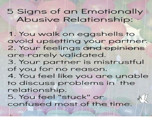Signs of a mentally abusive relationship