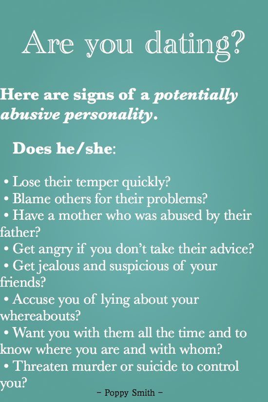 Signs of abusive woman