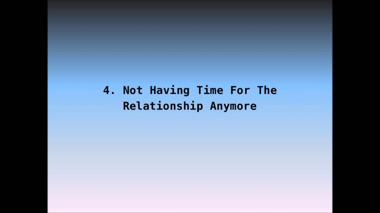 Signs of dead end relationship