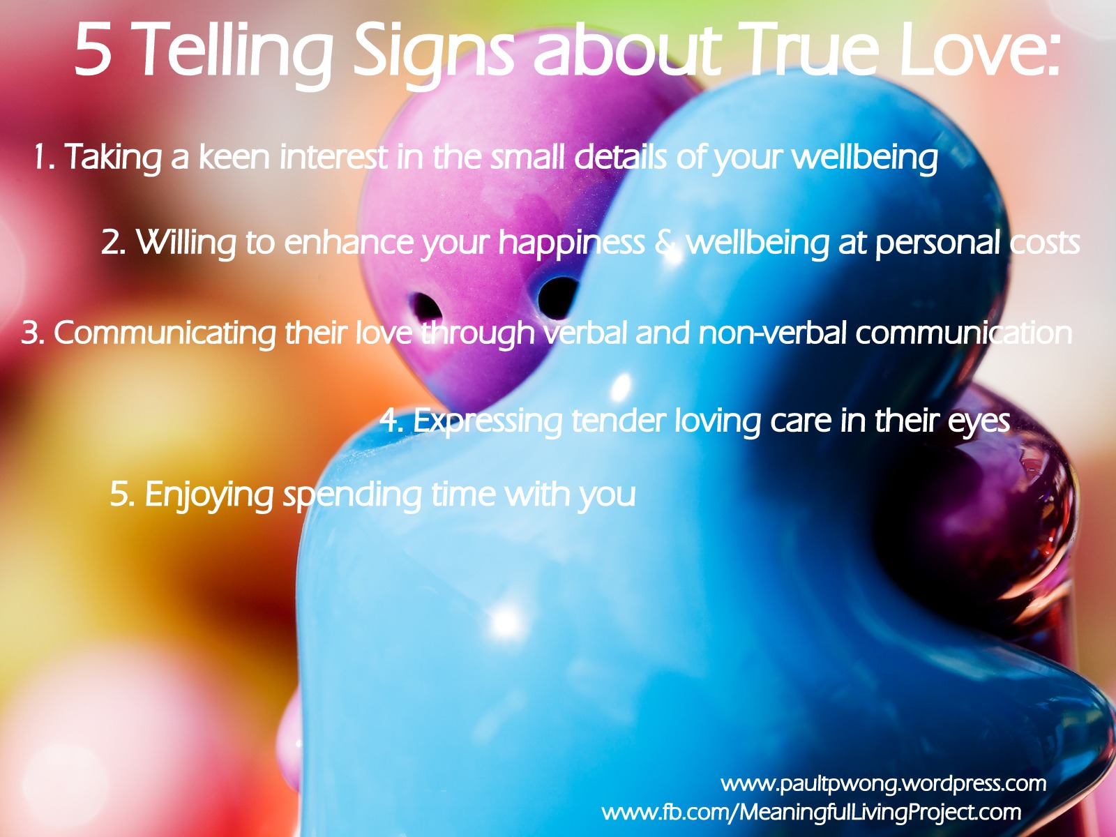 Signs of true love