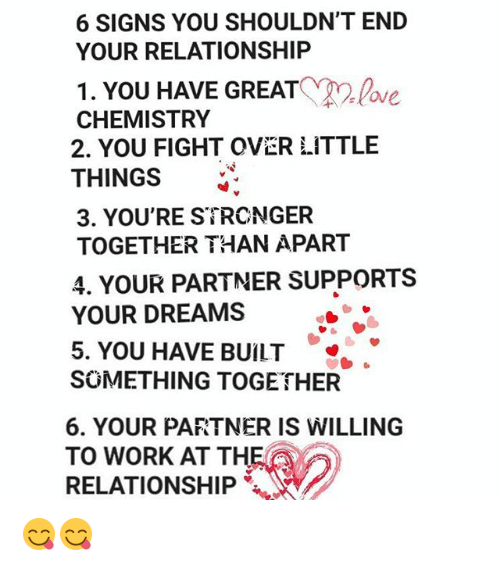 Signs you re in a relationship