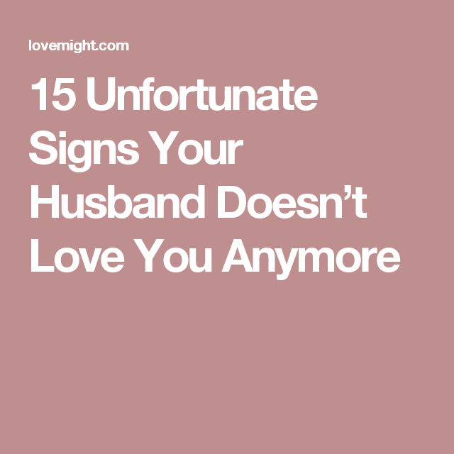 Signs your husband loves you