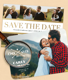 Simply to impress save the date
