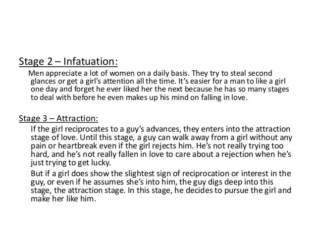 Stages of falling in love for a woman