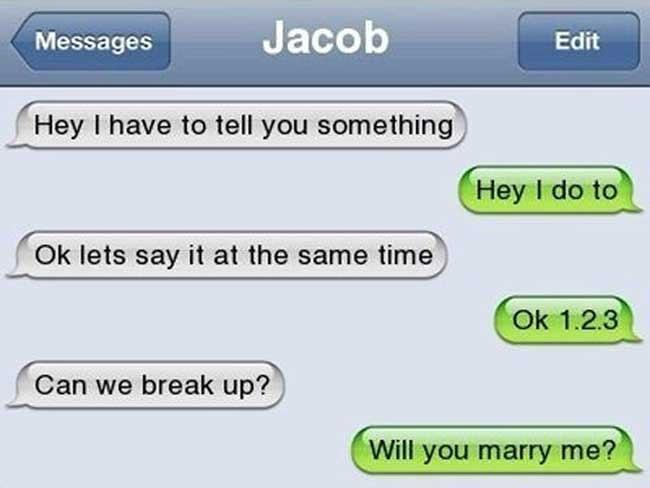 Text message after break up