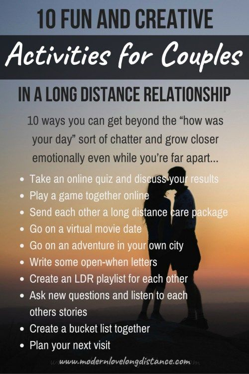 Things to do in long distance relationships