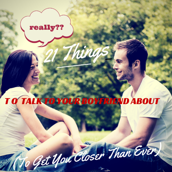 Things to talk about in a new relationship