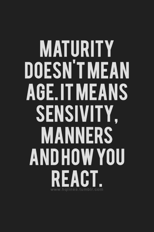 What age does a man mature