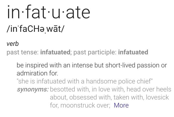 What does infactuated mean